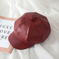 Mũ nồi da bóng trơn - nón beret thuỷ thủ thời trang, phong cách Hàn
