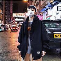 Áo Hoodie nỉ ngoại 2 màu đen be (unisex nam nữ đều mặc được)