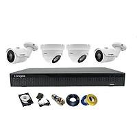 Camera Longse TVI 2.0MP 1080p bộ 4 mắt (Kim Loại) - Hàng chính hãng