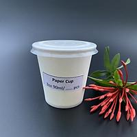 Combo 300 ly giấy, cốc giấy 3oz 90ml đựng gia vị, sản phẩm dùng thử - KÈM NẮP