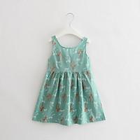 Đầm cotton cho bé gái 2-6 tuổi họa tiết nhẹ nhàng, nữ tính Baby-S – SD035