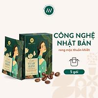 Cà Phê Phin Giấy Túi Lọc Cao Cấp HANCOFFEE Blend Tiện Dụng Đậm Vị Coffee Nguyên Chất Đắng Nhẹ, Ngọt Sâu Hộp 5 Và 10 Gói