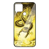 Ốp lưng Vina Case cho Realme C15 rồng vàng mặt kính 9H
