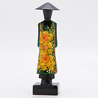 Miss Nghệ Thuật Họa Tiết Đào Xanh Lá Phúc Loan (15cm)