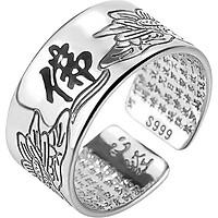 Nhẫn Nam Đeo Ngón Cái Khắc Chữ Độc Đáo Showfay Jewelry TR0035 - Bạc