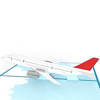 Thiệp 3D Chủ đề phương tiện di chuyển - Máy bay Boeing 737 - D23