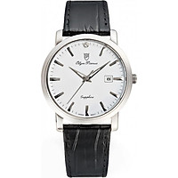 Đồng hồ nam dây da Olym Pianus OP130-06MS-GL trắng