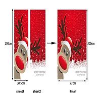 Christmas Wall Sticker Chirstmas Door Sticker Cartoon 200*77CM PVC Home Decoration Background Interior Design