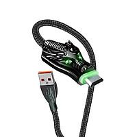 Dây Cáp sạc USB-Micro Aspor Led đầu rồng 2.4A & Data, Dài 1M -Hàng chính hãng