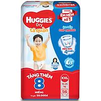 Tã Quần Huggies Dry Gói Cực Đại XXL56 (56 Miếng) - Tặng 8 miếng