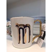 Cốc cao chữ M gốm sứ cao cấp phong cách hiện đại LETTER CUP 5193M