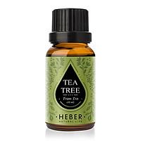 Tinh Dầu Tràm Trà Tea Tree Essential Oil Heber | 100% Thiên Nhiên Nguyên Chất Cao Cấp | Nhập Khẩu Từ Ấn Độ | Kiểm Nghiệm Quatest 3 | Xông Thơm Phòng