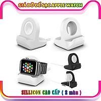 Giá đỡ silicon dẻo dành cho sạc Apple Watch - trắng (không kèm cáp sạc)