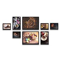 Bộ 8 Khung Hình Kính Treo Tường Tặng bộ ảnh như hình mẫu, Đinh Treo Tranh và sơ đồ treo - Khung Hình Phạm Gia PGCTK65