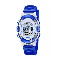 Đồng hồ bé trai, chống nước, có đèn led 7 màu.
