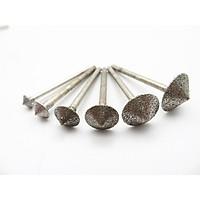 Bộ mũi mài kim cương 6SP hình nón cho máy khoan mài mini - mũi mài khắc đá khắc ngọc