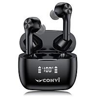 Tai Nghe Bluetooth True Wireless CONVI CVT09 - Nút cảm ứng, Đèn led báo pin, Âm thanh 8D Hifi, HD mic, Super Bass, phù hợp cho Apple / Samsung / Oppo / Vivo - Hàng Chính Hãng