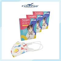 [HỘP - FAMAPRO 5D BABY] - khẩu trang y tế trẻ em kháng khuẩn 3 lớp Famapro 5D Baby (10 cái/ hộp) - COMBO 3 HỘP