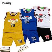 ( GIÁ SỈ ) COMBO 3 bộ đồ mùa hè thoáng mát,in số 79 .vải cotton 100% thấm hút mồ hôi cho bé trai,gai.6-26kg.