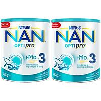 Combo 2 Lon Sữa Bột Nestlé NAN OPTIPRO 3 HMO 900g