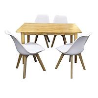 Bộ Bàn Ăn 4 Ghế Lót Nệm Eames TH01