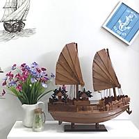Mô hình thuyền gỗ trang trí Hạ Long Rồng - thân tàu 40cm - gỗ hương