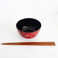 Chén ăn cơm dáng tròn 390ml Tanaka in họa tiết hiện đại, trang nhã