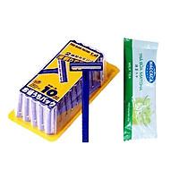 Set 10 dao cạo đa năng KAI Nhật Bản + Tặng Gói Trà Sữa Matcha / Cafe Macca 20g