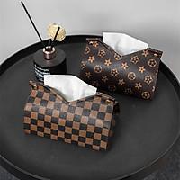 Retro Luxury Style Tissue Box PU Leather Napkin Cover Case Home Car Tissue Bag Table Decorationh