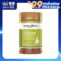 Viên uống tinh chất Mầm Đậu Nành Healthy Care Super Lecithin 1200mg 100, Cải Thiện Sức Khỏe, Hỗ Trợ Làm Đẹp Da, Cân Bằng Nội Tiết Tố và sinh lý nữ.