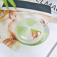 Hộp nhựa chia ngăn bảo quản thuốc bỏ túi, có nắp xoay Inomata - Nội địa Nhật Bản