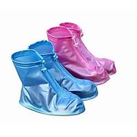 Bộ 2 đôi ủng bọc giày đi mưa có đế chống trơn trượt