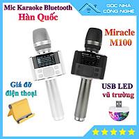 Micro Karaoke Bluetooth Miracle M100 Hàn Quốc - Bản nâng cấp của Miracle M75+ và Magic Sing MP30 - Nhiều Tính Năng - Kèm Quà Tặng Khuyến Mãi - HÀNG CHÍNH HÃNG