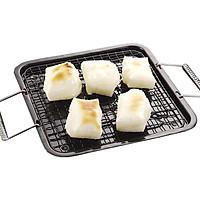 Bộ 3 vỉ inox kèm khay hứng cao cấp nướng đồ siêu tiện dụng - Hàng nội đại Nhật