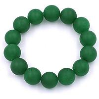 Vòng chuỗi đeo tay thạch anh xanh lá mờ 14 ly - Chuỗi hạt đeo tay đá phong thủy