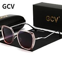 GCV Thương Hiệu 2021 Thiết Kế Mới Nữ Kính Mát Nữ Thời Trang Gọng Vuông Màu Cho Kính Mắt Tuyệt Đẹp Đẹp Phân Cực Tinh Tế
