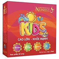 Thùng 10 lốc nước yến cho bé Nunest Kid (10 lốc x 6 lọ x 70ml)