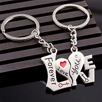 Móc khóa cặp đôi hình trái tim Love You Forever - New4all MK01