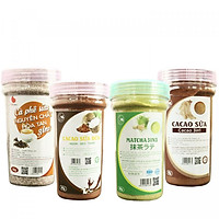 Combo Bột Hòa Tan Light Coffee - Cacao sữa, Cà phê sữa, Matcha sữa, Cacao sữa dừa (90g/hũ)