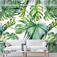 Tranh dán tường hình lá ADHW020, tranh vải dán tường tropical