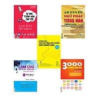 Combo tự học giao tiếp tiếng Hàn có App di động và Web tiện lợi ( Ngữ pháp tiếng Hàn thông dụng - sơ cấp Korean Grammar in use Beginning +  3000 Từ vựng tiếng Hàn theo chủ đề + Làm chủ ngữ pháp tiếng Hàn (My Korean Grammar I) + Tự học tiếng hàn cho người mới bắt đầu + Hướng dẫn phát âm chuẩn như người Hàn Quốc )
