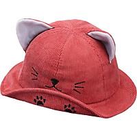 Autumn Baby Boys Girls Toddler Cartoon Cat Ear Design Bucket Hats Caps Reversible Sun Headwear