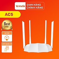 Tenda Thiết bị phát Wifi AC5 Chuẩn AC 1200Mbps - Hàng Chính Hãng