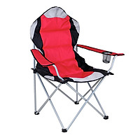 60x60x100cm Deluxe Folding Camping Chair Heavy Duty Padded with Cup Holder Directors Fishing