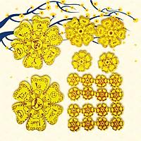 Combo 22 Bông Hoa Mai Vàng Xốp Tài Lộc Trang Trí Nhà Cửa Đón Tết