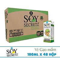 Thùng Sữa Đậu Nành Kết Hợp Gạo Mầm Soy Secretz Nhập Thái Lan 48 hộp (180ml/hộp)