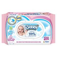 Khăn Ướt Bobby Nắp Nhựa (100 Miếng)