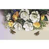 Tranh dán tường giàn hoa có sẵn keo Binbin H116