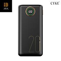 Pin sạc dự phòng CYKE 20000mAh 2.1A sạc nhanh điện thoại 2 cổng đầu ra USB và 3 cổng đầu vào (lightning/Type c/Micro usb) - Hàng Chính Hãng