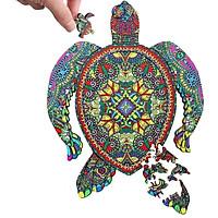 Bộ xếp hình gỗ đồ chơi - ghép hình con vật, bộ xếp hình trí tuệ, quà tặng bạn bè - chú rùa